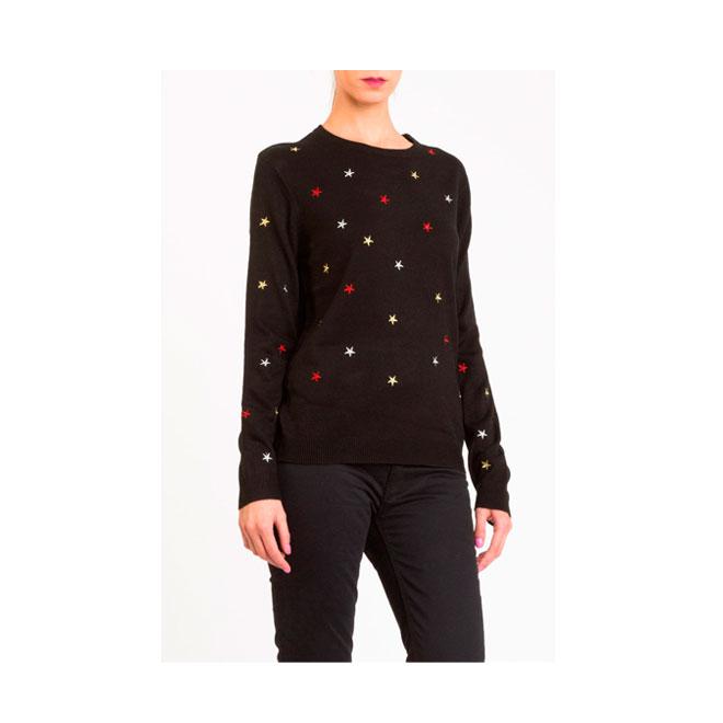 Jersey con bordado de estrellas