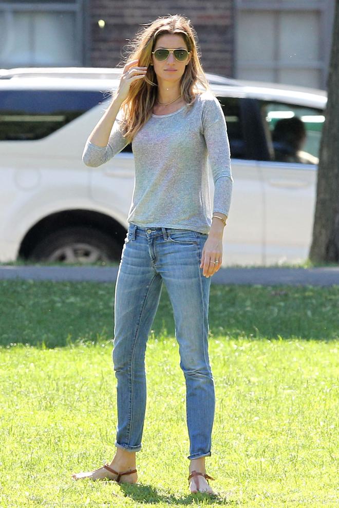 Con jeans casual
