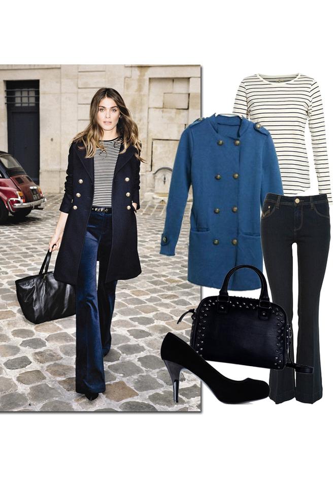 El look marinero de Elisa Sednaoui