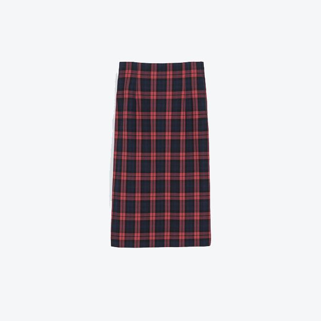 Falda tubo de cuadros