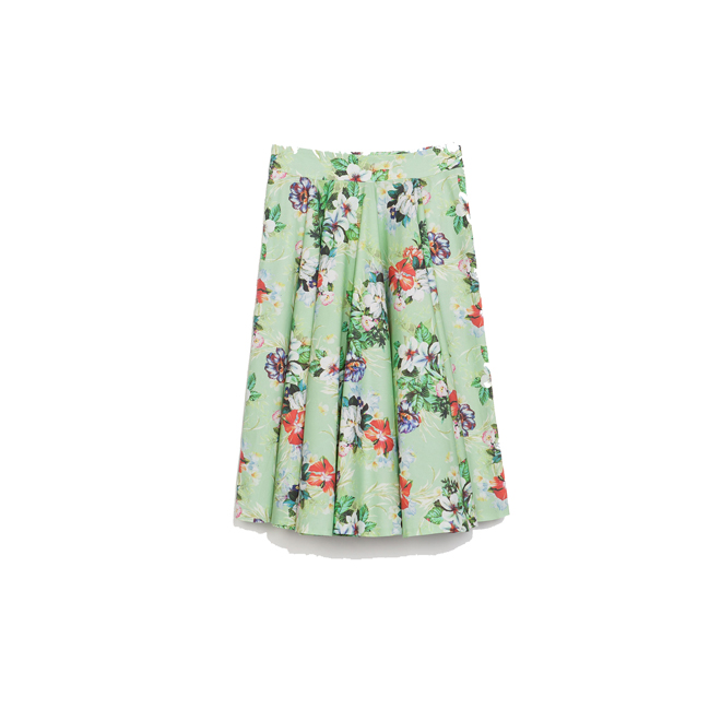Falda capa de flores