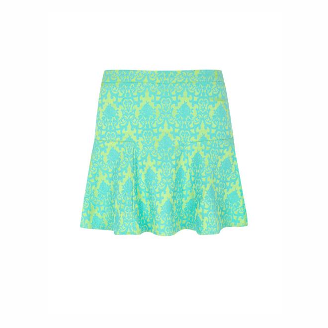 Falda en tonos flúor