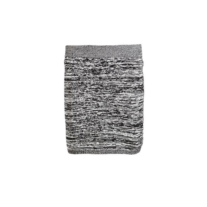 Falda gris moteada