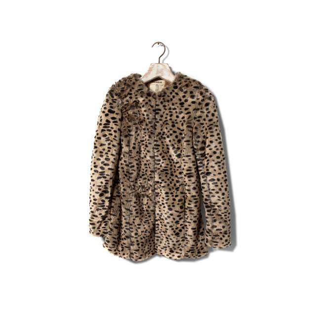 Abrigo de pelo de leopardo