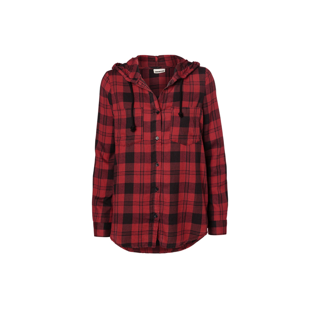 Camisa de cuadros con capucha