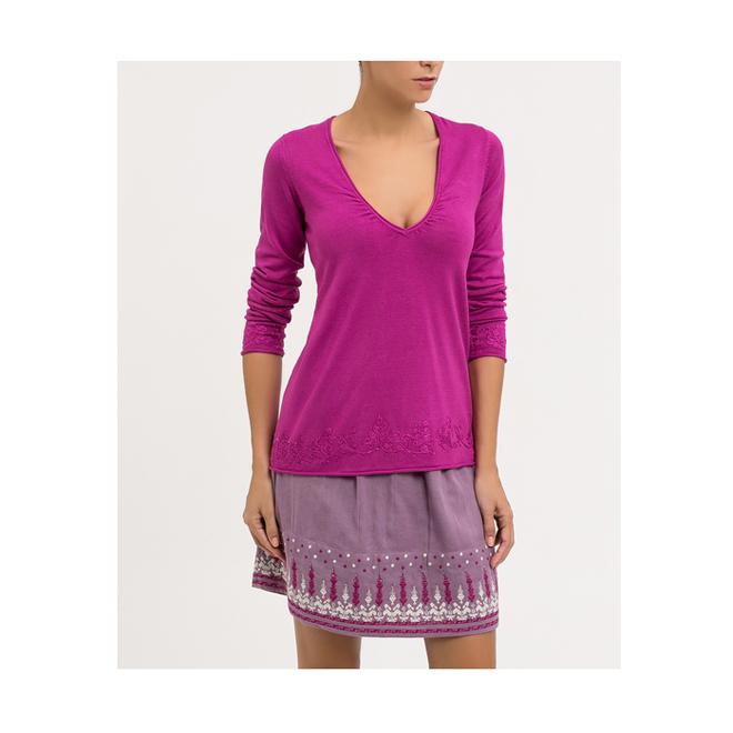 Jersey de punto púrpura