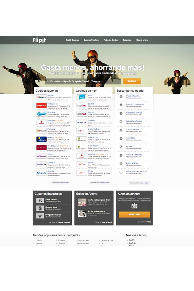 Una web llena de descuentos
