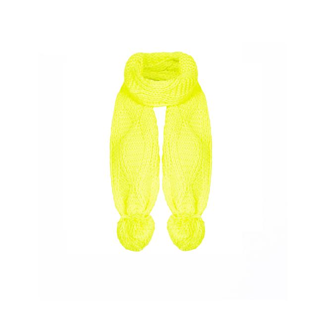 Bufanda de punto amarilla