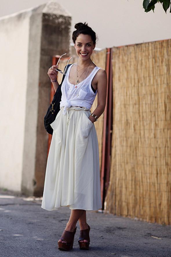 estilismo chica falda larga