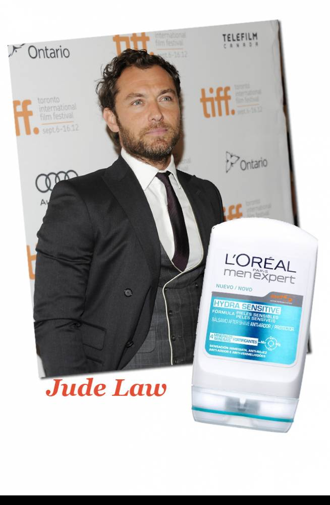 Jude Law & Piel sensible