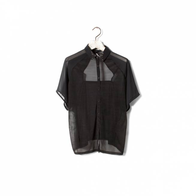 Camisa negra transparente