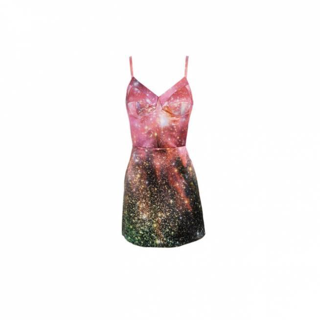 Vestido galáctico rosa
