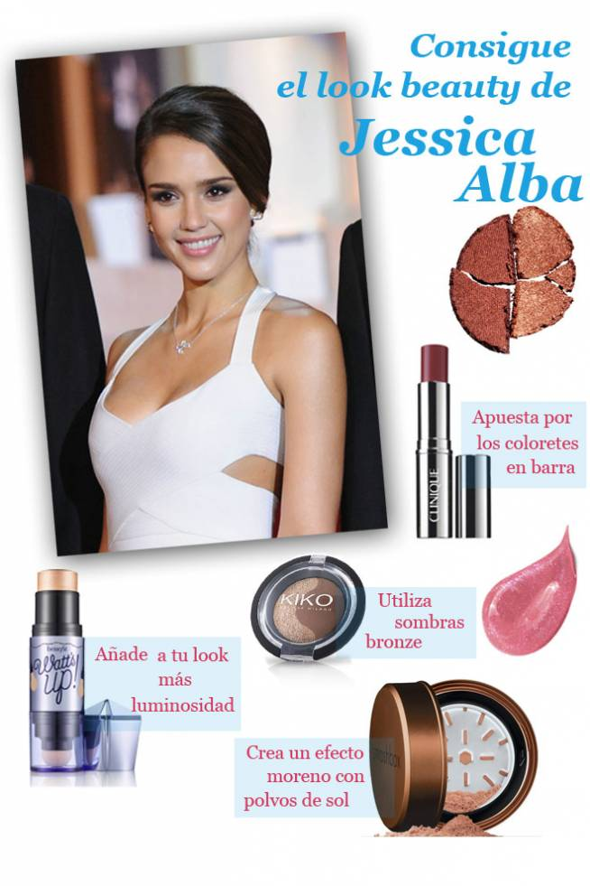 Consigue el look beauty de Jessica Alba