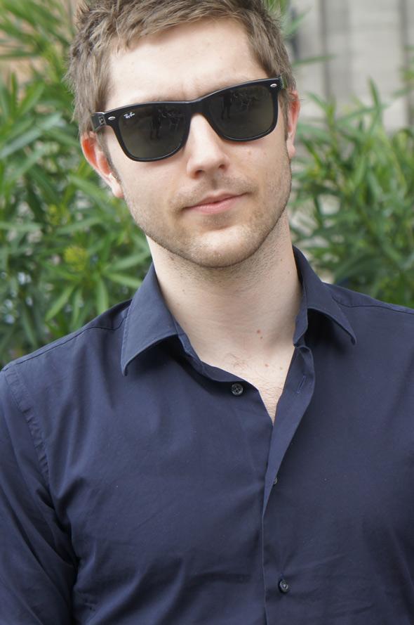 chico estilo look gafas rayban