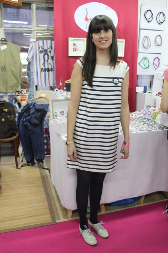 estilismo chica vestido rayas