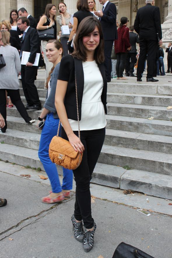 estilismo, chica, bolso, color, moda, look, street style