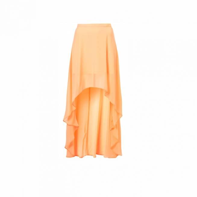 Falda asimétrica naranja