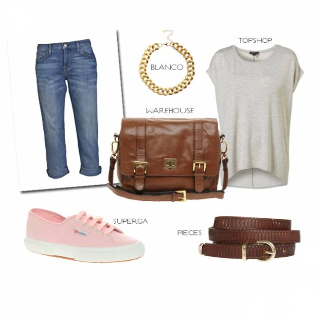 Look de día con boyfriend jeans