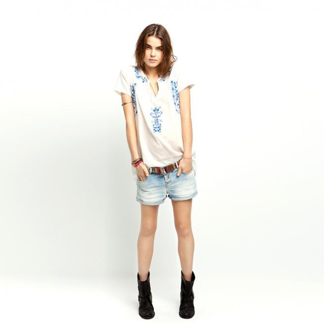 Camisa hippie + denim= tarde de verano