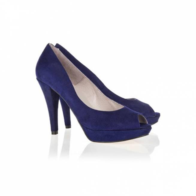 Zapatos peep-toe en azul
