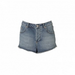 Shorts denim de tiro alto