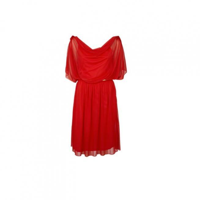 Vestido de gasa rojo