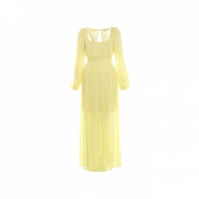 Vestido largo amarillo
