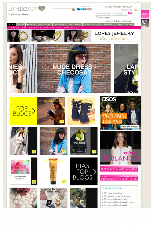 Nueva web Stylelovely