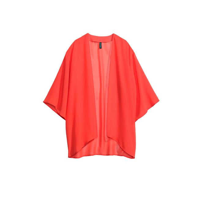 Kimono coral de gasa