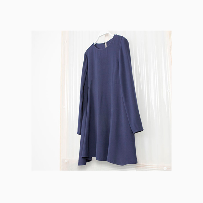 Vestido crepe azul