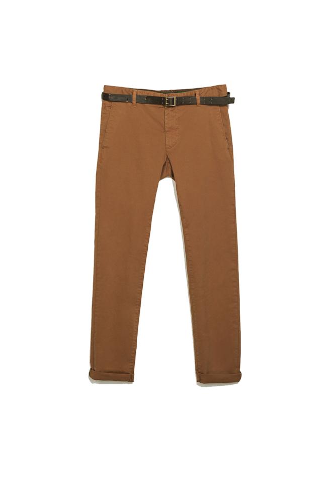 Pantalones chinos caramelo