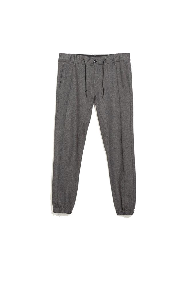 Pantalones holgados grises
