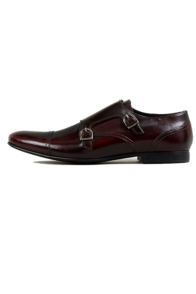 Zapatos burgundy doble hebilla