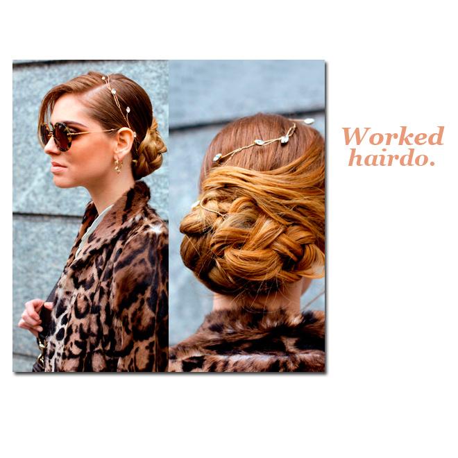 Un peinado ultra elaborado