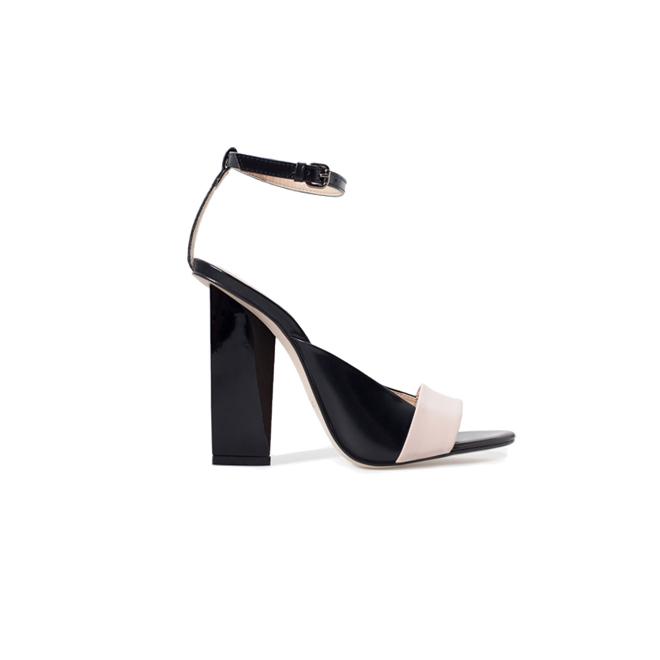 Sandalias bicolor de Zara