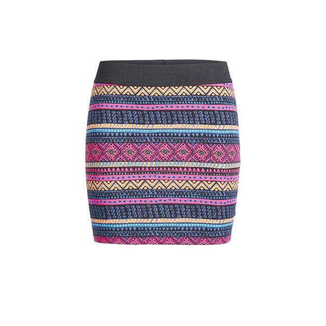 Mini falda print azteca