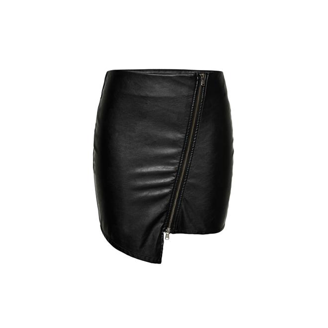 ca14e524f falda piel cremalleras