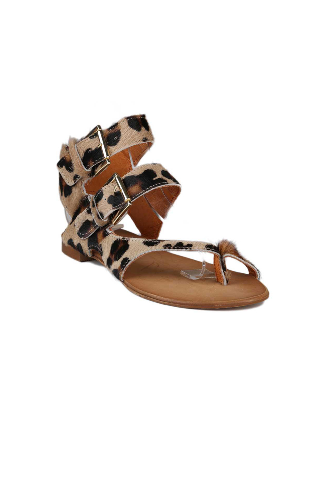 Sandalias de leopardo