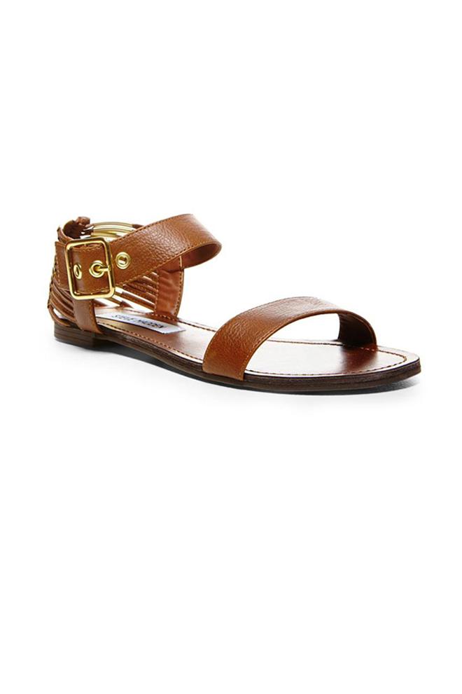 Sandalias de piel con pulsera
