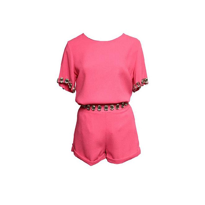 Mono rosa con pedrería