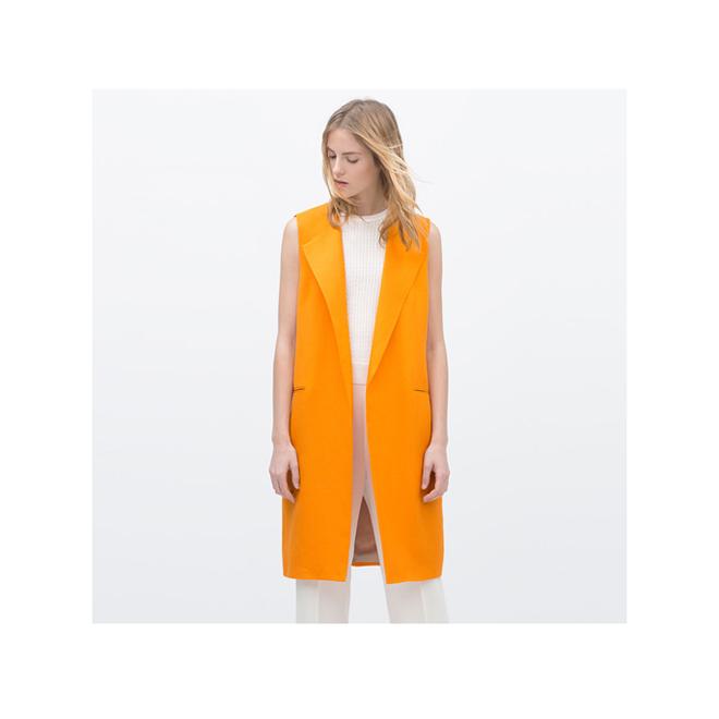Chaleco largo naranja