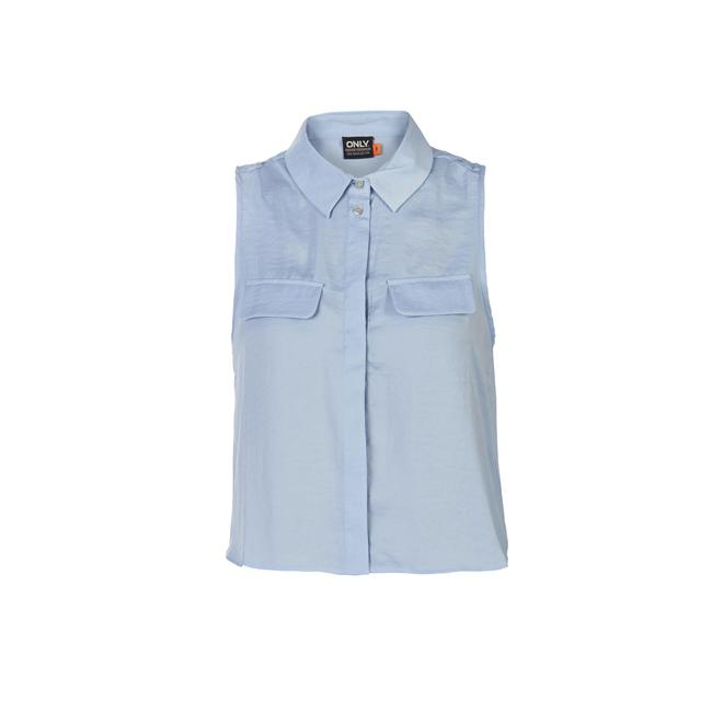 Camisa cropped azul claro