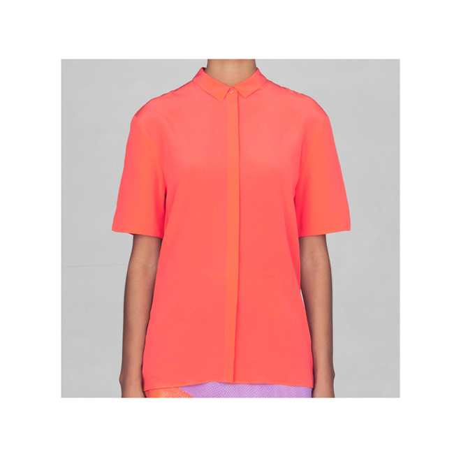 Camisa de manga corta coral