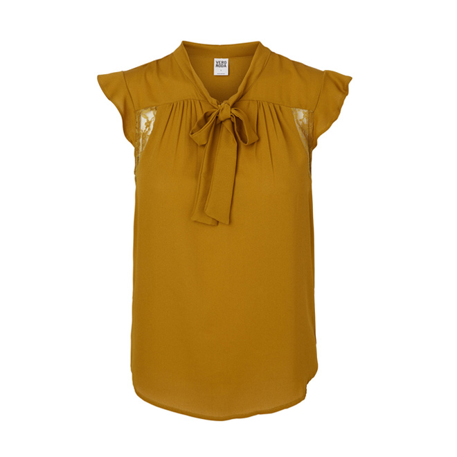 Camisa sin mangas con lazo