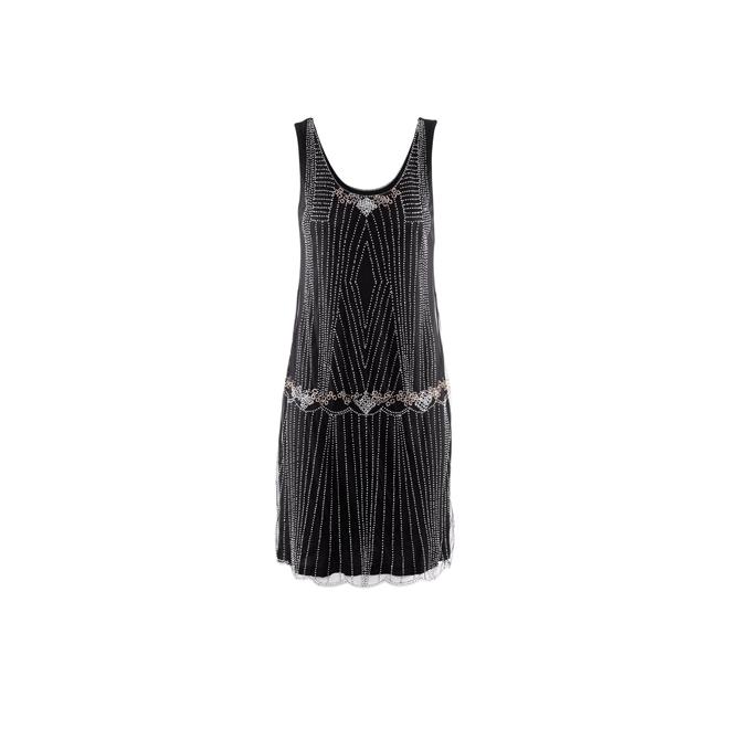 Vestido negro con cuentas