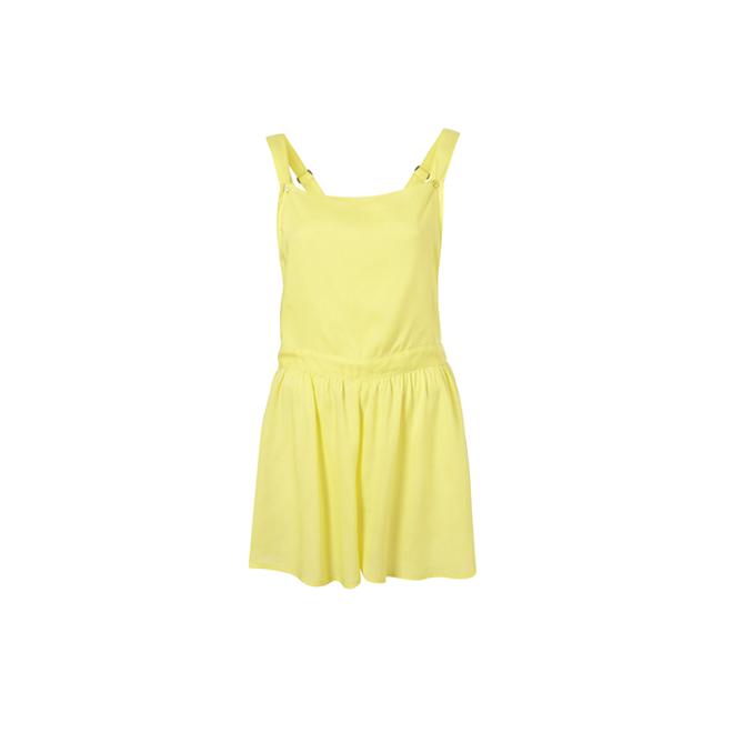 Pichi de estilo peto en color amarillo
