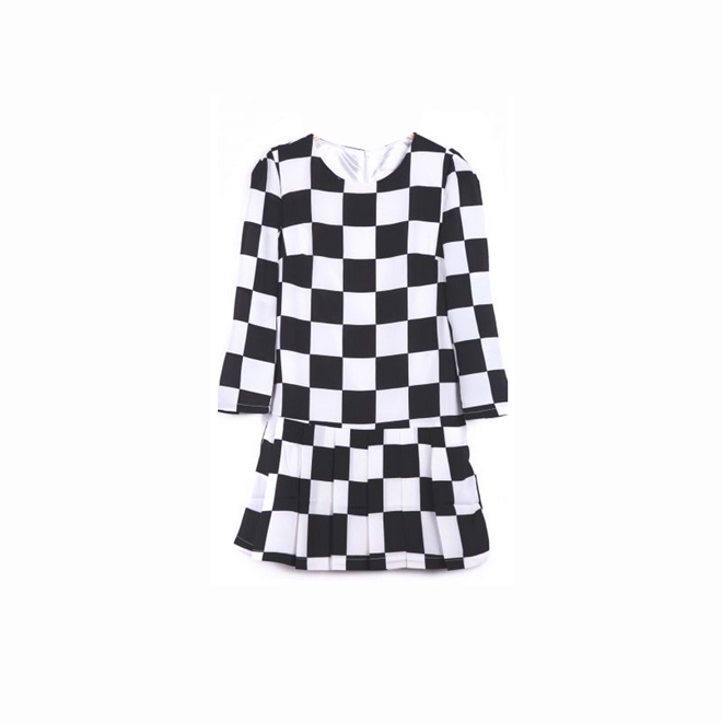 Vestido de estampado ajedrez