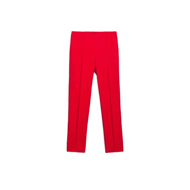 Pantalones rojos con raya