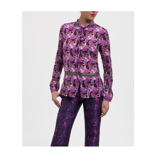 Camisa con print de cisnes