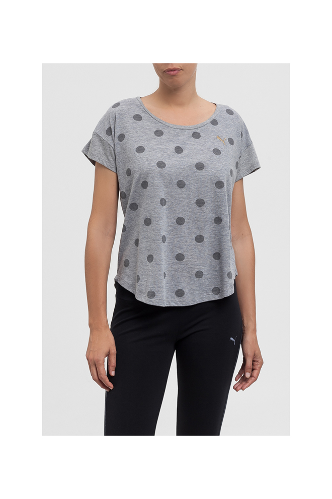 Camiseta gris de lunares